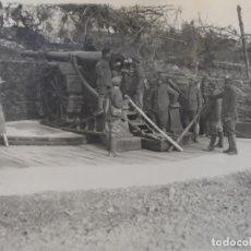 Militaria: PIEZA DE 149 LONG. EN POSICION CARGANDO. FRENTE ITALIANO. EJERCITO FRANCES. AÑO 1917. 12,5 X 17 CMS. Lote 182421821