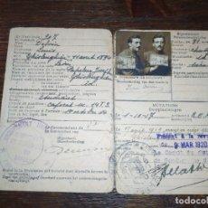 Militaria: CARNET DE CAPORAL DE LA PRIMERA GUERRA MUNDIAL.. Lote 182782583