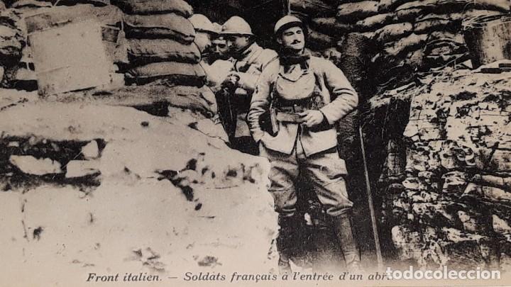 Militaria: ANTIGUA POSTAL WWI - I GUERRA MUNDIAL - FRENTE ITALIANO SOLDADOS FRANCESES EN UN REFUGIO - Foto 5 - 184073177
