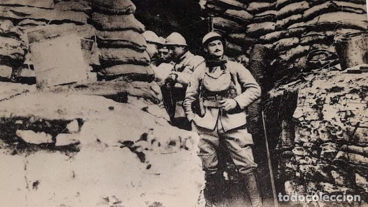Militaria: ANTIGUA POSTAL WWI - I GUERRA MUNDIAL - FRENTE ITALIANO SOLDADOS FRANCESES EN UN REFUGIO - Foto 6 - 184073177