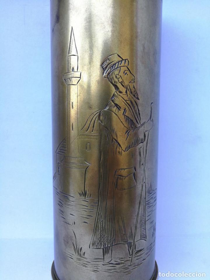 Militaria: Enchufes de la guerra mundial de latón antiguo raro (1916) - Foto 2 - 185755836