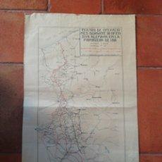 Militaria: MAPA PRIMERA GUERRA MUNDIAL. Lote 190013191
