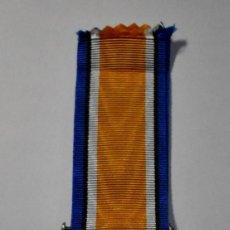 Militaria: MEDALLA PLATA MACIZA DE REINO UNIDO AL MERITO EN PARTICIPACION EN LA 1ª GUERRA MUNDIAL.. Lote 191253733