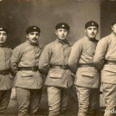 Militaria: ORIGINAL - SOLDADOS / OFICIALES FRANCESES CAZADORES ALPINOS MONTAÑA I GUERRA MUNDIAL - 14 X 9 CMS. Lote 191990365