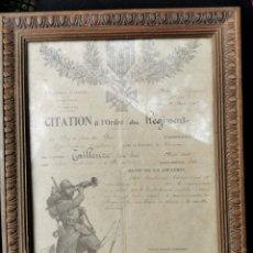Militaria: DOCUMENTO ORIGINAL FRANCIA 1918. Lote 193384693