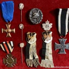 Militaria: ALEMANIA, PRUSIA, I GUERRA MUNDIAL. GRAN LOTE DE MEDALLAS E INSIGNIAS.. Lote 193849542