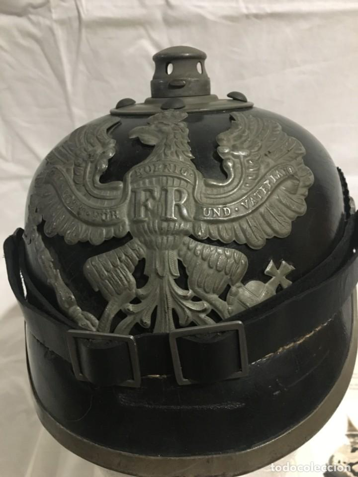 Militaria: ALEMANIA PRUSIA, CASCO PICHELHAUBE PARA TROPA, 1915, CERTIFICADO DE AUTENTICIDAD. - Foto 7 - 194962316