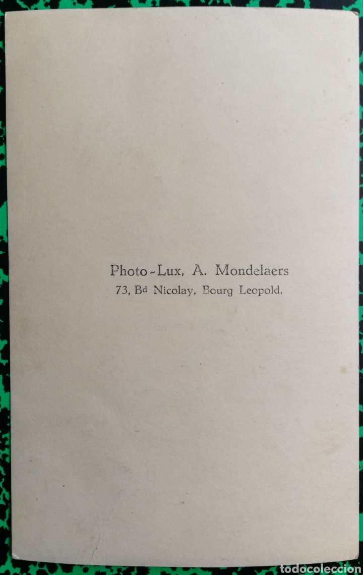 Militaria: MILITAR - Foto de estudio - PHOTO LUX, A. Mondelarers, BOURG LEOPOLD - PJRB - Foto 2 - 196336542