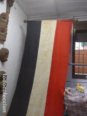 Militaria: Antigua gigantesca bandera alemana de organismo oficial de 1a guerra mundial, original, alemania. - Foto 3 - 196387206