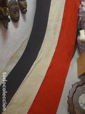 Militaria: Antigua gigantesca bandera alemana de organismo oficial de 1a guerra mundial, original, alemania. - Foto 4 - 196387206