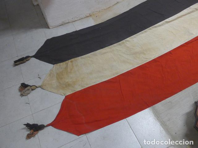 Militaria: Antigua gigantesca bandera alemana de organismo oficial de 1a guerra mundial, original, alemania. - Foto 5 - 196387206