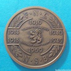 Militaria: MEDALLÓN 50 ANIVERSARIO PRIMERA GUERRA MUNDIAL. BELGICA FNC/NSB. FEDERACION NACIONAL DE COMBATIENTES. Lote 197565331