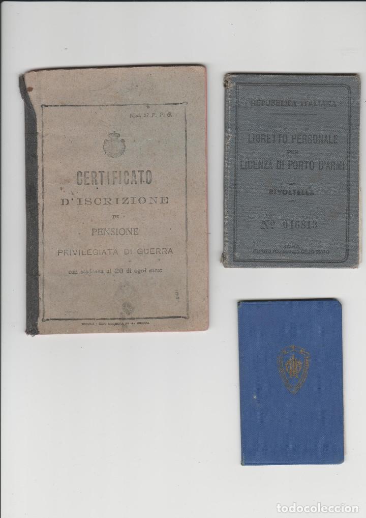 DOCUMENTACION DE SOLDADO ITALIANO DE LA PRIMERA GUERRA MUNDIAL (Militar - I Guerra Mundial)