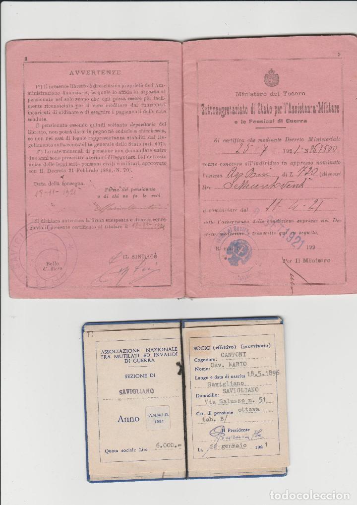Militaria: DOCUMENTACION DE SOLDADO ITALIANO DE LA PRIMERA GUERRA MUNDIAL - Foto 2 - 199976371