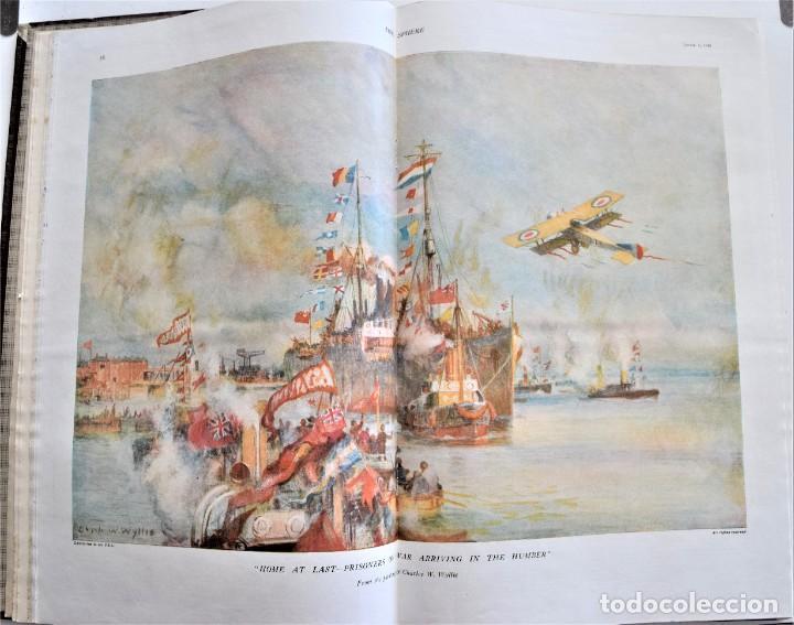 Militaria: THE SPHERE - TOMO CON LOS MESES DE ABRIL Y MAYO DE 1919 - 9 EJEMPLARES IMPECABLES INGLESES - Foto 6 - 204084285
