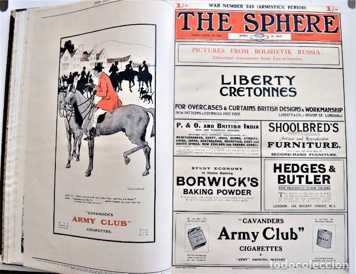 Militaria: THE SPHERE - TOMO CON LOS MESES DE ABRIL Y MAYO DE 1919 - 9 EJEMPLARES IMPECABLES INGLESES - Foto 7 - 204084285