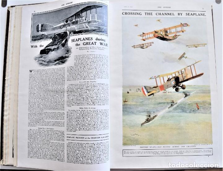 Militaria: THE SPHERE - TOMO CON LOS MESES DE ABRIL Y MAYO DE 1919 - 9 EJEMPLARES IMPECABLES INGLESES - Foto 8 - 204084285