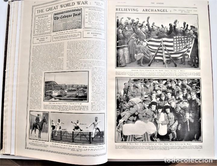 Militaria: THE SPHERE - TOMO CON LOS MESES DE ABRIL Y MAYO DE 1919 - 9 EJEMPLARES IMPECABLES INGLESES - Foto 10 - 204084285