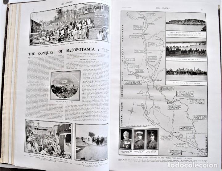 Militaria: THE SPHERE - TOMO CON LOS MESES DE ABRIL Y MAYO DE 1919 - 9 EJEMPLARES IMPECABLES INGLESES - Foto 11 - 204084285