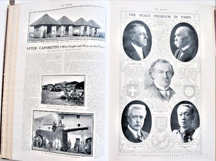 Militaria: THE SPHERE - TOMO CON LOS MESES DE ABRIL Y MAYO DE 1919 - 9 EJEMPLARES IMPECABLES INGLESES - Foto 13 - 204084285