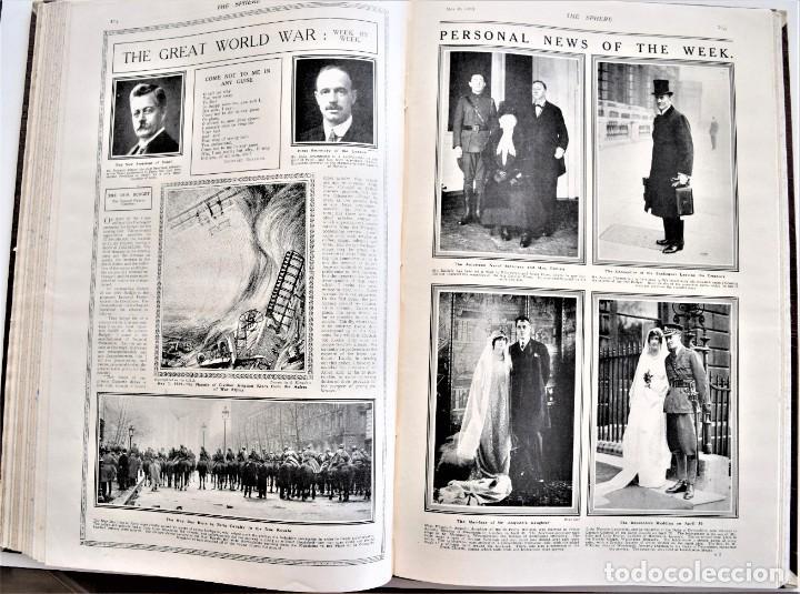 Militaria: THE SPHERE - TOMO CON LOS MESES DE ABRIL Y MAYO DE 1919 - 9 EJEMPLARES IMPECABLES INGLESES - Foto 14 - 204084285