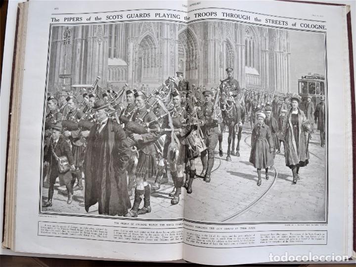 Militaria: THE SPHERE - TOMO CON LOS MESES DE ABRIL Y MAYO DE 1919 - 9 EJEMPLARES IMPECABLES INGLESES - Foto 15 - 204084285