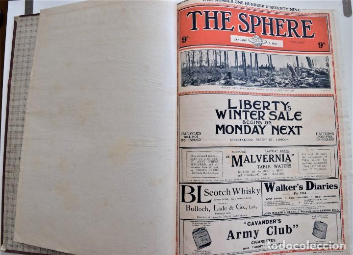 Militaria: THE SPHERE - TOMO CON LOS MESES DE ENERO, FEBRERO Y MARZO DE 1918 PUBLICACIÓN INGLESA GRAN GUERRA - Foto 4 - 204084845