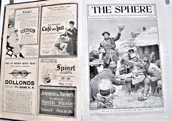 Militaria: THE SPHERE - TOMO CON LOS MESES DE ENERO, FEBRERO Y MARZO DE 1918 PUBLICACIÓN INGLESA GRAN GUERRA - Foto 5 - 204084845