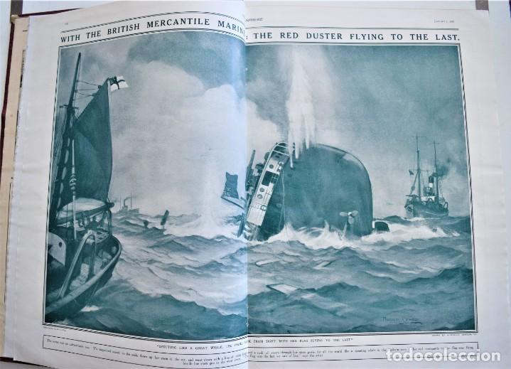 Militaria: THE SPHERE - TOMO CON LOS MESES DE ENERO, FEBRERO Y MARZO DE 1918 PUBLICACIÓN INGLESA GRAN GUERRA - Foto 6 - 204084845