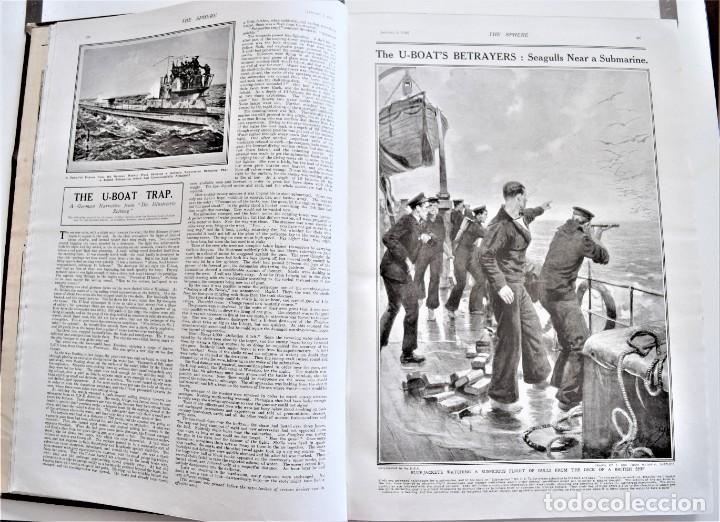 Militaria: THE SPHERE - TOMO CON LOS MESES DE ENERO, FEBRERO Y MARZO DE 1918 PUBLICACIÓN INGLESA GRAN GUERRA - Foto 7 - 204084845