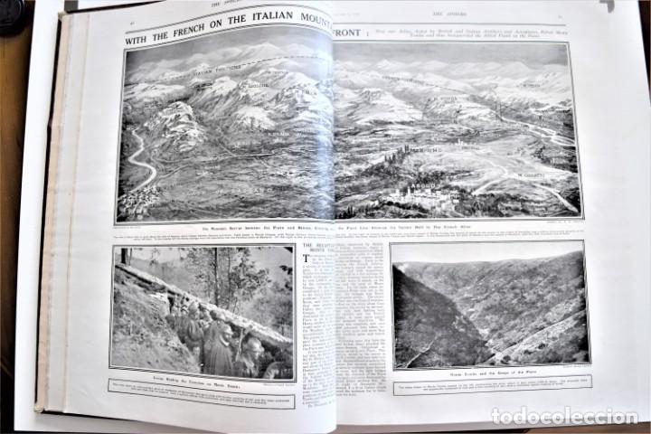 Militaria: THE SPHERE - TOMO CON LOS MESES DE ENERO, FEBRERO Y MARZO DE 1918 PUBLICACIÓN INGLESA GRAN GUERRA - Foto 8 - 204084845