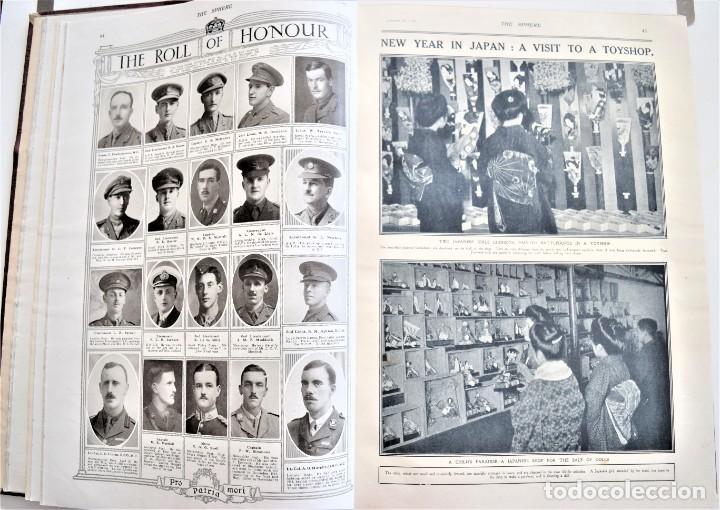 Militaria: THE SPHERE - TOMO CON LOS MESES DE ENERO, FEBRERO Y MARZO DE 1918 PUBLICACIÓN INGLESA GRAN GUERRA - Foto 9 - 204084845