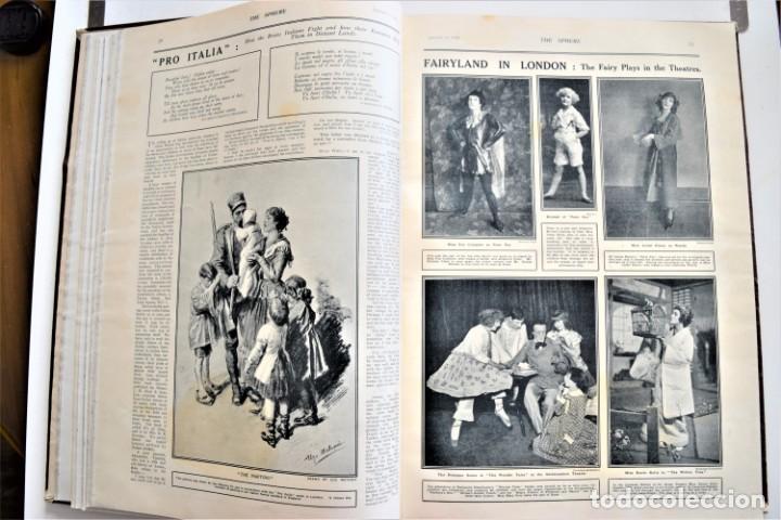 Militaria: THE SPHERE - TOMO CON LOS MESES DE ENERO, FEBRERO Y MARZO DE 1918 PUBLICACIÓN INGLESA GRAN GUERRA - Foto 10 - 204084845