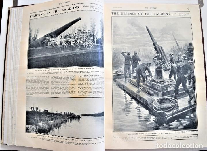 Militaria: THE SPHERE - TOMO CON LOS MESES DE ENERO, FEBRERO Y MARZO DE 1918 PUBLICACIÓN INGLESA GRAN GUERRA - Foto 11 - 204084845