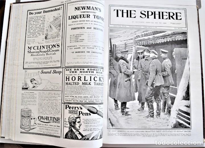 Militaria: THE SPHERE - TOMO CON LOS MESES DE ENERO, FEBRERO Y MARZO DE 1918 PUBLICACIÓN INGLESA GRAN GUERRA - Foto 12 - 204084845