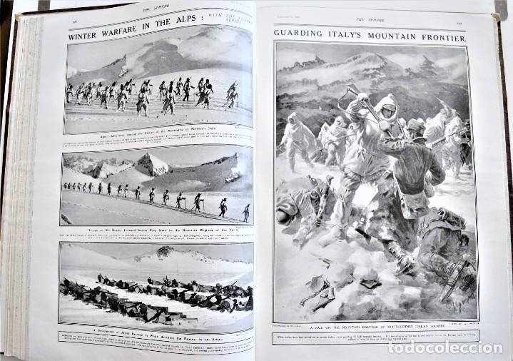 Militaria: THE SPHERE - TOMO CON LOS MESES DE ENERO, FEBRERO Y MARZO DE 1918 PUBLICACIÓN INGLESA GRAN GUERRA - Foto 13 - 204084845