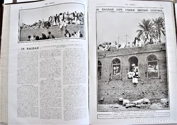 Militaria: THE SPHERE - TOMO CON LOS MESES DE ENERO, FEBRERO Y MARZO DE 1918 PUBLICACIÓN INGLESA GRAN GUERRA - Foto 14 - 204084845