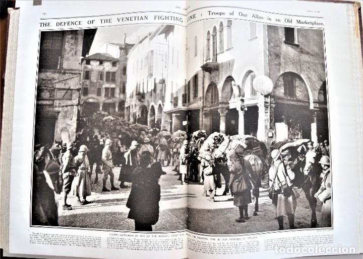 Militaria: THE SPHERE - TOMO CON LOS MESES DE ENERO, FEBRERO Y MARZO DE 1918 PUBLICACIÓN INGLESA GRAN GUERRA - Foto 16 - 204084845