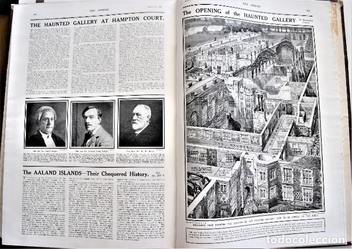 Militaria: THE SPHERE - TOMO CON LOS MESES DE ENERO, FEBRERO Y MARZO DE 1918 PUBLICACIÓN INGLESA GRAN GUERRA - Foto 17 - 204084845