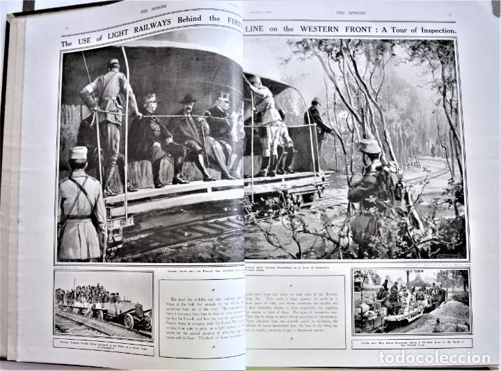 Militaria: THE SPHERE - TOMO CON LOS MESES DE OCTUBRE, NOVIEMBRE Y DICIEMBRE 1916 + ESPECIAL CHRISTMAS - Foto 6 - 204672278