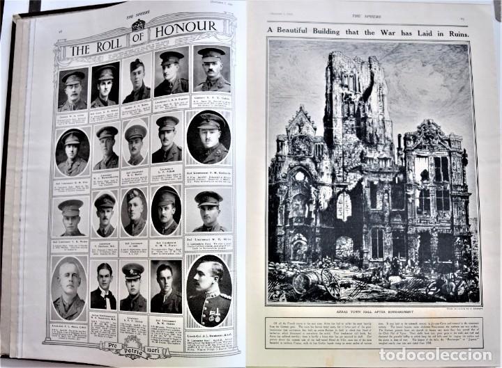 Militaria: THE SPHERE - TOMO CON LOS MESES DE OCTUBRE, NOVIEMBRE Y DICIEMBRE 1916 + ESPECIAL CHRISTMAS - Foto 7 - 204672278