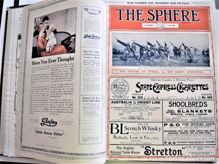 Militaria: THE SPHERE - TOMO CON LOS MESES DE OCTUBRE, NOVIEMBRE Y DICIEMBRE 1916 + ESPECIAL CHRISTMAS - Foto 8 - 204672278