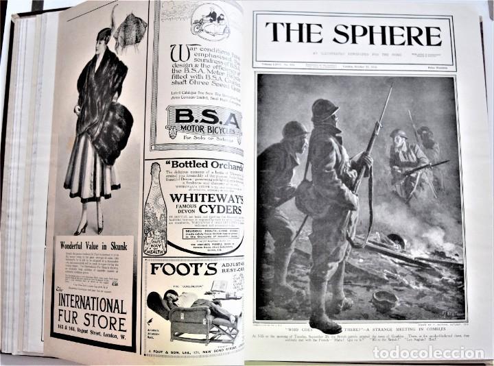 Militaria: THE SPHERE - TOMO CON LOS MESES DE OCTUBRE, NOVIEMBRE Y DICIEMBRE 1916 + ESPECIAL CHRISTMAS - Foto 9 - 204672278