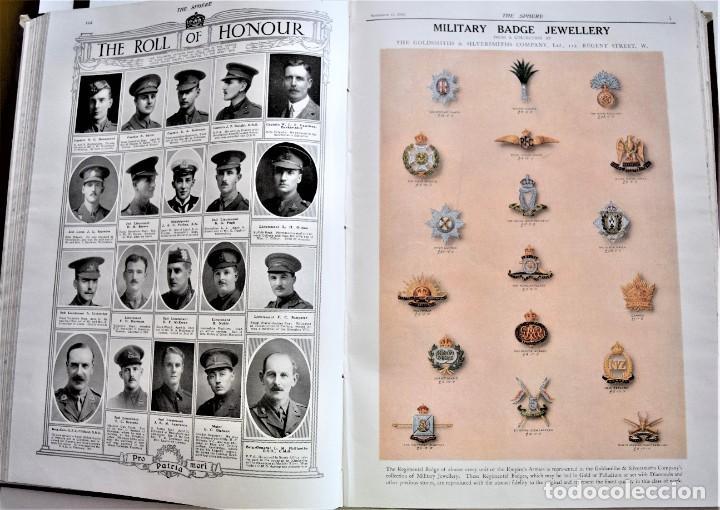 Militaria: THE SPHERE - TOMO CON LOS MESES DE OCTUBRE, NOVIEMBRE Y DICIEMBRE 1916 + ESPECIAL CHRISTMAS - Foto 12 - 204672278