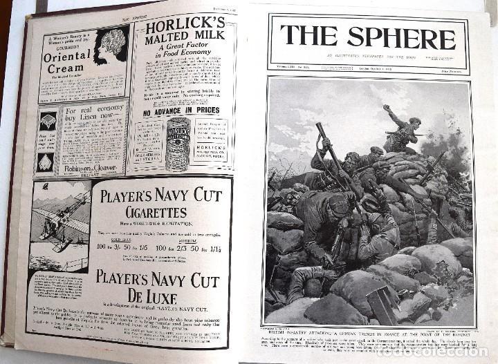 Militaria: THE SPHERE - TOMO CON LOS MESES DE OCTUBRE, NOVIEMBRE Y DICIEMBRE 1915 + UN ESPECIAL ESPECIAL - Foto 5 - 205174586