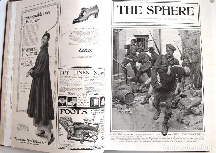 Militaria: THE SPHERE - TOMO CON LOS MESES DE OCTUBRE, NOVIEMBRE Y DICIEMBRE 1915 + UN ESPECIAL ESPECIAL - Foto 8 - 205174586