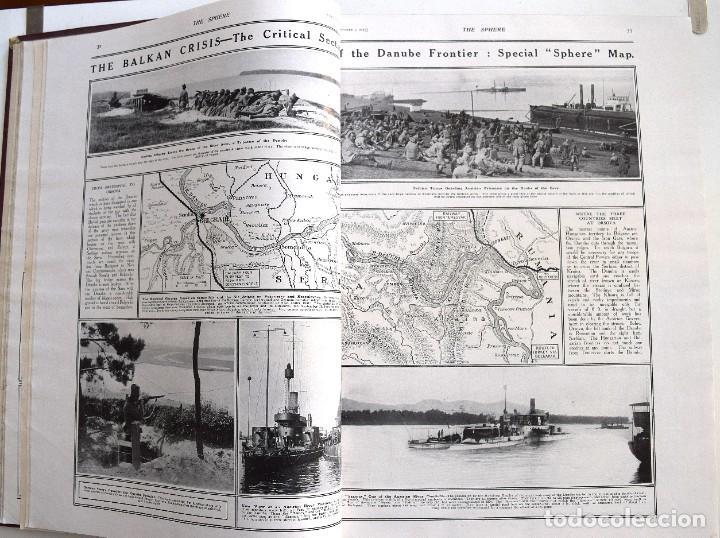 Militaria: THE SPHERE - TOMO CON LOS MESES DE OCTUBRE, NOVIEMBRE Y DICIEMBRE 1915 + UN ESPECIAL ESPECIAL - Foto 10 - 205174586