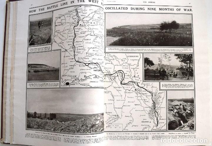 Militaria: THE SPHERE - TOMO CON LOS MESES DE OCTUBRE, NOVIEMBRE Y DICIEMBRE 1915 + UN ESPECIAL ESPECIAL - Foto 11 - 205174586