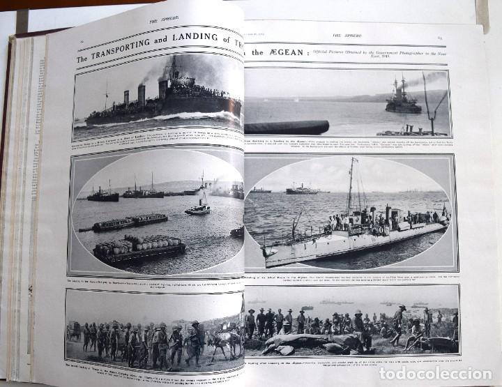 Militaria: THE SPHERE - TOMO CON LOS MESES DE OCTUBRE, NOVIEMBRE Y DICIEMBRE 1915 + UN ESPECIAL ESPECIAL - Foto 13 - 205174586