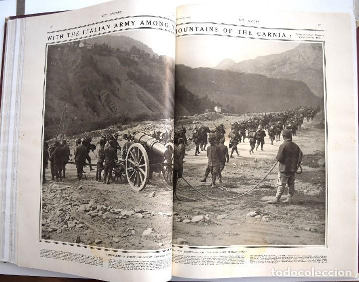 Militaria: THE SPHERE - TOMO CON LOS MESES DE OCTUBRE, NOVIEMBRE Y DICIEMBRE 1915 + UN ESPECIAL ESPECIAL - Foto 14 - 205174586